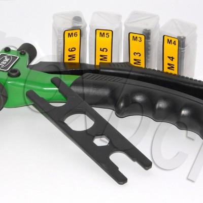 Remachadora para tuercas remachables M3 a M6