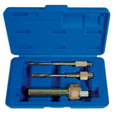 Kit profesional de calidad para la eliminación de bujías incandescentes obstinados.,  Escariador para el diámetro de la bujía incandescente 8mm 6 x M10 x 1,5,  Escariador de 10 mm y 12 mm