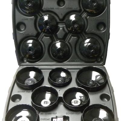 juego de 14 llaves vasos cazoletas para filtros de aceite