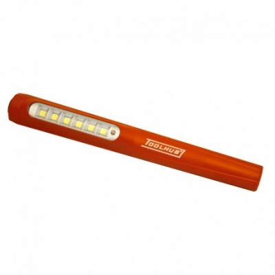 linterna bolígrafo con bateria recargable 6 + 1 led smd 140 lumens