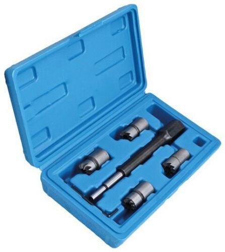 Kit escariador asiento de inyectores diesel 7 pzas